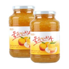 담터 꿀유자차A 1kg+1kg (유자차 2병)