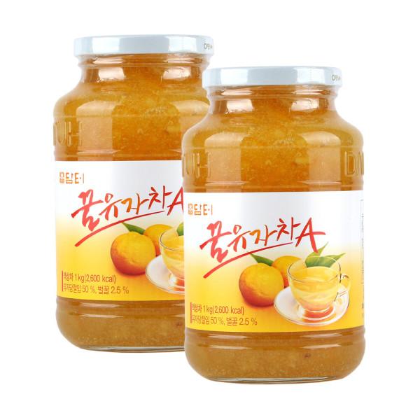 담터 꿀유자차A 1kg+1kg (유자차 2병) 상품이미지