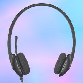 로지텍코리아 H340 헤드셋 디지털 사운드 회전식 붐MIC