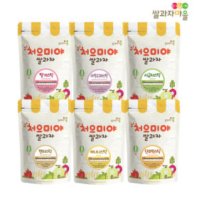 CHEOEUMIYA Stick Set B 6p_ unpolished rice/banana/squash/strawberry/purple sweet potato/spinach
