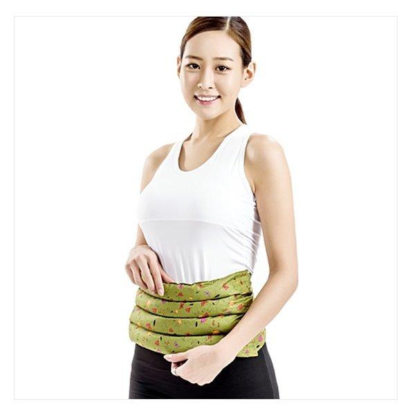 천연허브 100% 라벤더 로즈마리 레몬그라스 카시아토레 허리복부 냉온찜질팩(고급형) - 카키 상품이미지