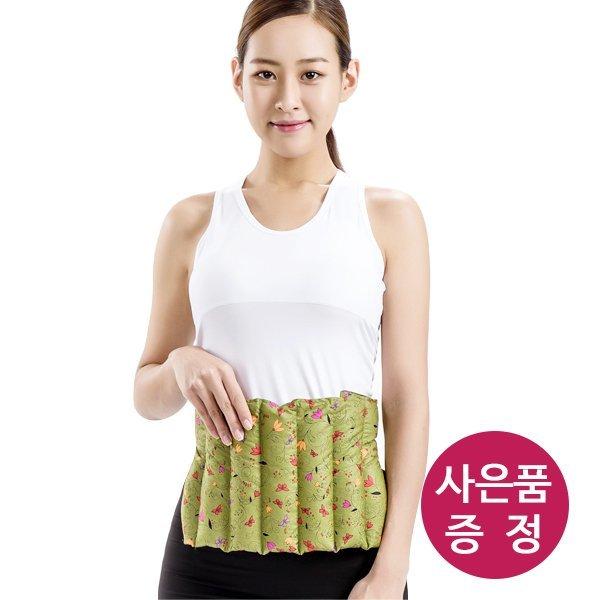 천연허브 100% 라벤더 로즈마리 레몬그라스 카시아토레 허리복부 냉온찜질팩(보급형) - 카키 상품이미지