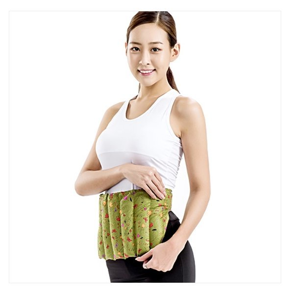 천연허브 100% 라벤더 로즈마리 레몬그라스 카시아토레 허리복부 냉온찜질팩(실속형) - 카키 상품이미지
