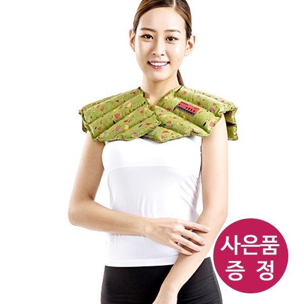 천연허브 100% 라벤더 로즈마리 레몬그라스 카시아토레 어깨 냉온찜질팩(프리미엄) - 카키 상품이미지