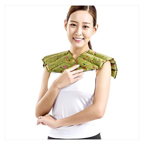 천연허브 100% 라벤더 로즈마리 레몬그라스 카시아토레 어깨 냉온찜질팩(고급형) - 카키 상품이미지