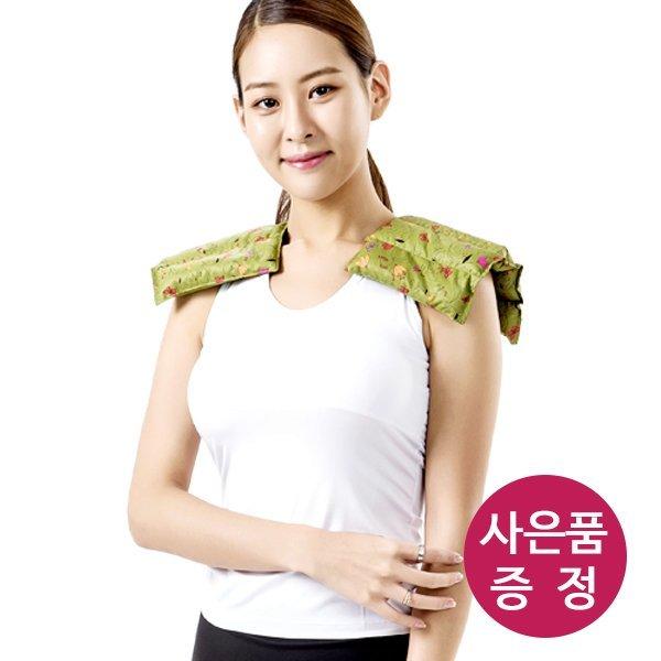 천연허브 100% 라벤더 로즈마리 레몬그라스 카시아토레 어깨 냉온찜질팩(보급형) - 카키 상품이미지