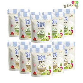 SSALGWAJAMAEUL Ureumttuk Set A 10p_ donggeul green5/ five grains5 (offering free gifts)