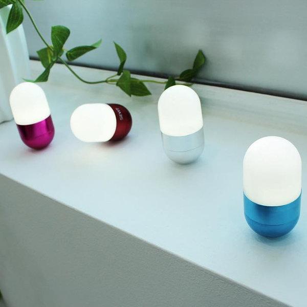 캡슐 LED 라이트 조명-캠핑 인테리어소품 취침/무드등 상품이미지