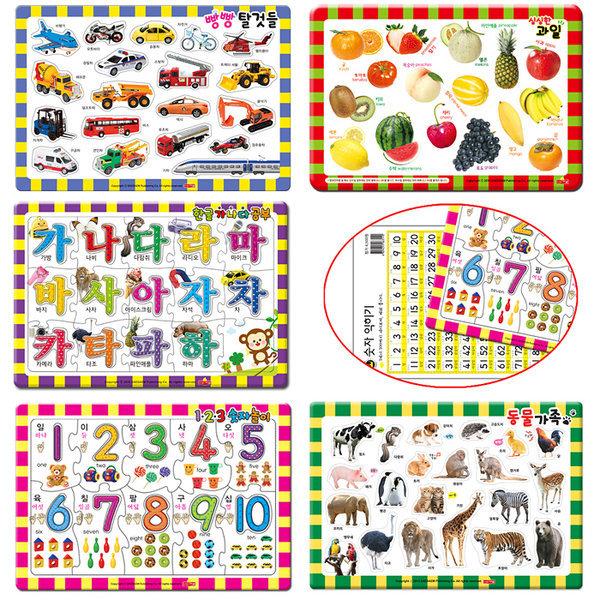 새샘 지능개발 퍼즐 5종set/기초퍼즐 첫퍼즐 아기퍼즐 상품이미지