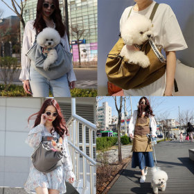 Dog Front Bag Sling Dog Walk Front Bag Wrapping Mobile Bag Multiple Pet Carrier Apron