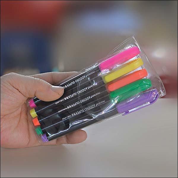 B606/형광펜/5개/5색/고체형광펜/샤피형광펜/형광펜 상품이미지
