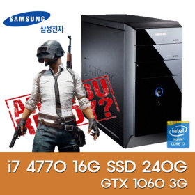i7 4770 16G 신품SSD 240G 1060 3G 게임용 최적화 PC