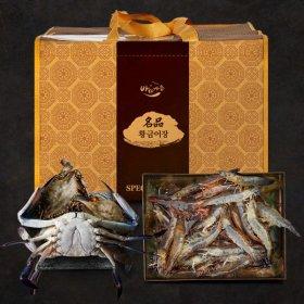 태안 황금어장 선물세트 / 자망숫꽃게1kg + 왕새우500g