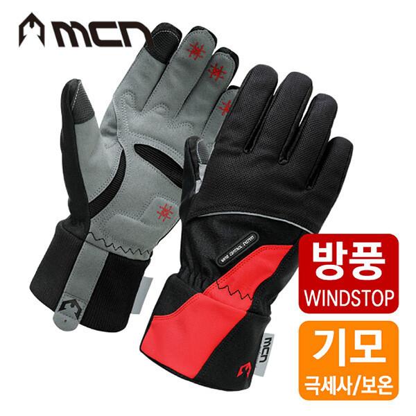 MCN MWGL 방풍 기모 싸이클 겨울장갑 레드 상품이미지