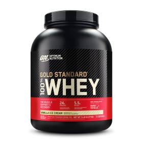 Optimum 골드 스탠다드 100% 웨이 단백질 프로틴 바닐라 아이스크림 73 서빙 빠른직구