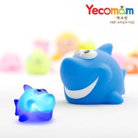LED 물놀이장난감 아기 목욕장난감 상어(블루)