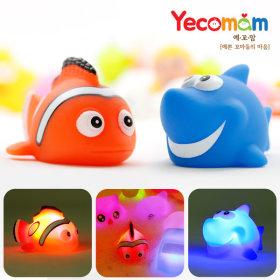 LED 아기 물놀이 목욕놀이 장난감 2종(상어+니모)