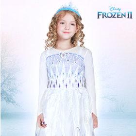 겨울왕국2 화이트 드레스 코스튬 파티 의상 여아 - XL