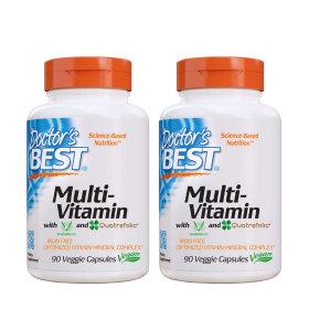 2개 Doctors BEST 멀티비타민 철분 미포함 종합비타민 90 베지캡슐 빠른직구