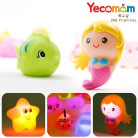 LED 아기장난감 목욕놀이 유아물놀이 2종(인어공주+별)