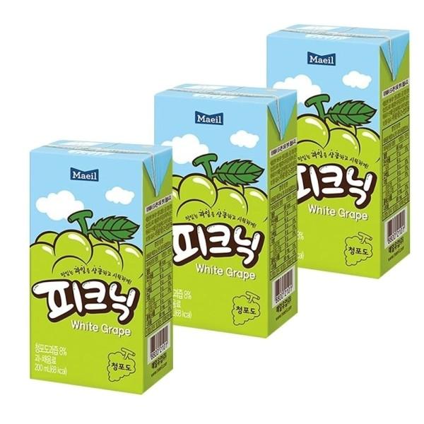 매일 피크닉 청포도 200mlx24팩 청포도음료 청포도팩 상품이미지