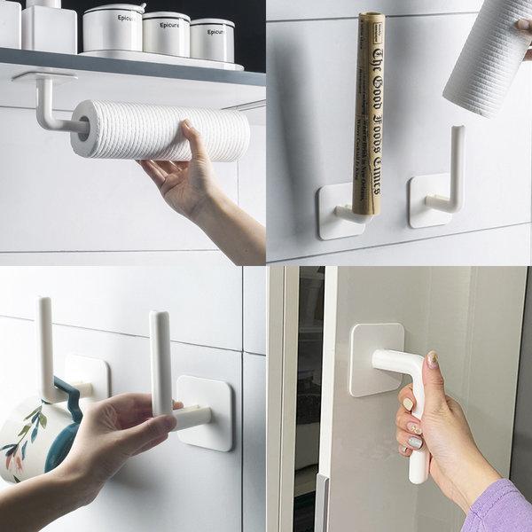 OMT 2개 1세트 부착식 다용도 욕실 소품 걸이 OHG-A77 상품이미지