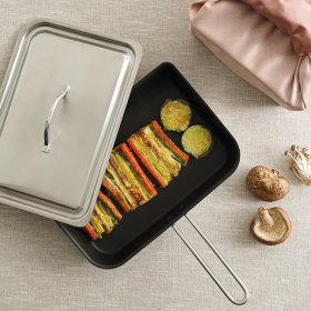 Whole 3-ply Dumpling Pan Extra Large Rolled Omelet Pan Egg Frying Pan 29x20cm