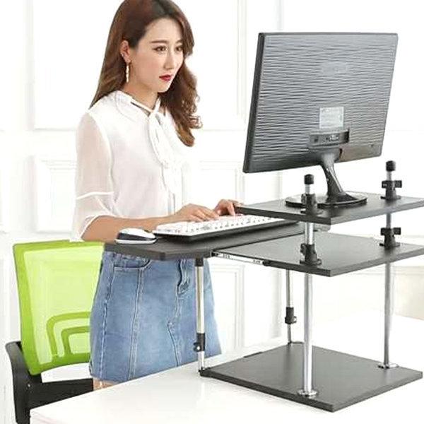 스텐딩 테이블 노트북 책상 높이조절 2단 입식용 상품이미지