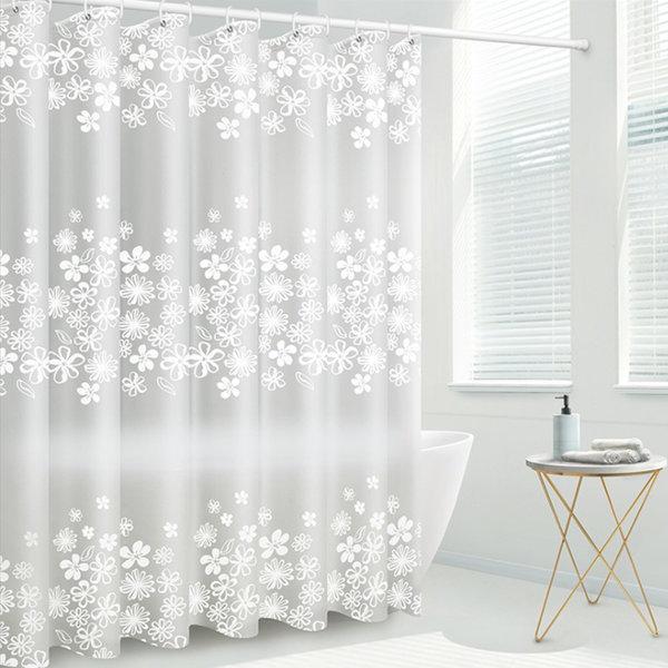 욕실 곰팡이 없는 호텔 투명 반투명 샤워 커튼 커텐 상품이미지