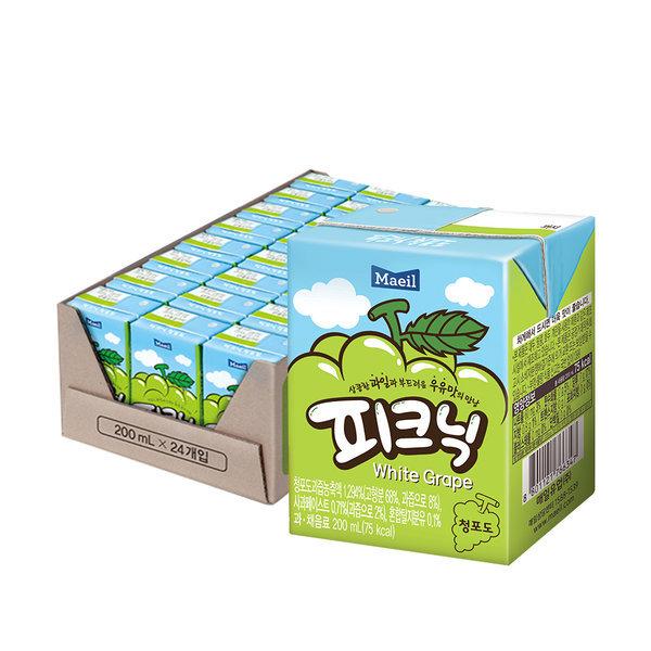 피크닉 청포도 200ml 24팩 /음료/주스/키즈음료 상품이미지