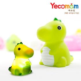 LED 아기목욕놀이 물놀이 유아장난감 공룡(그린)