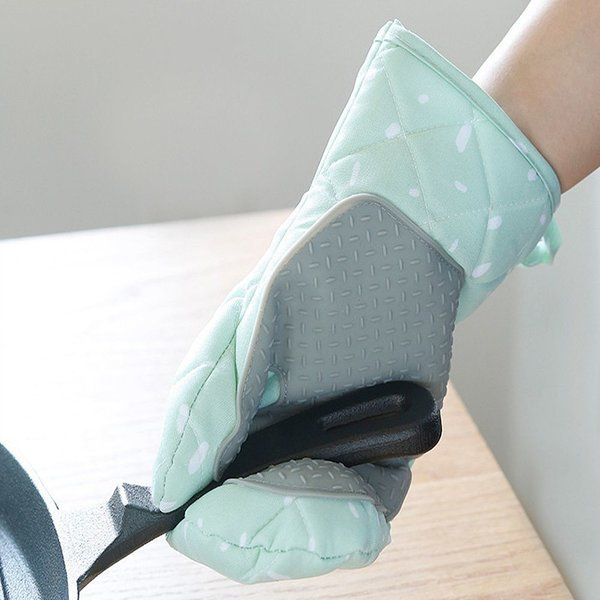 실리콘 패드 오븐 방열 냄비 요리 장갑 2P (그린색) 상품이미지