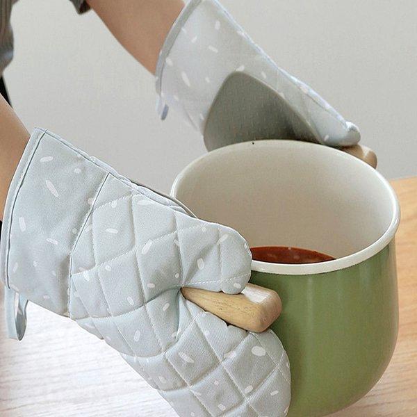 실리콘 패드 오븐 방열 냄비 요리 장갑 2P (그레이) 상품이미지