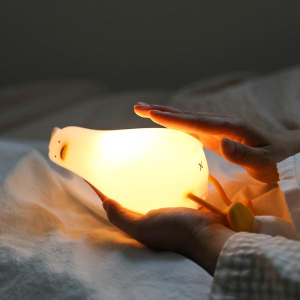 무아스 LED 나무시계 알람시계 무소음 탁상시계 우드 상품이미지