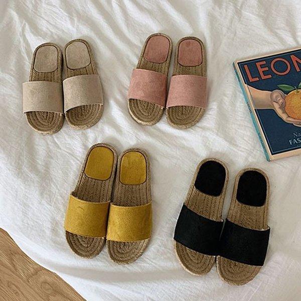 라탄 여자 여름 슬리퍼 여성 사무실 슬리퍼 휴가 신발 상품이미지