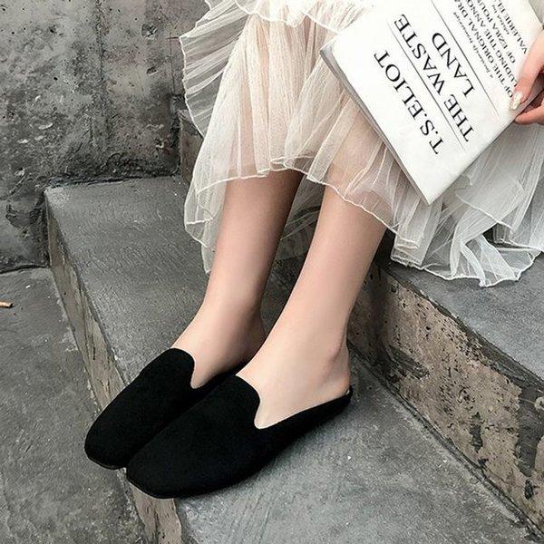 여성 뮬 블로퍼 여자 클래식 무드 디자인 편안한 발가 상품이미지
