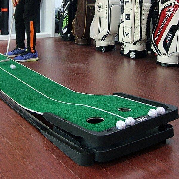 라이조절 퍼팅매트 골프퍼터연습 볼 오토리턴레일 상품이미지