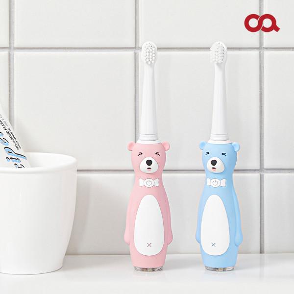 클린이베어 어린이 LED 음파전동 칫솔 유아 아동 핑크 상품이미지