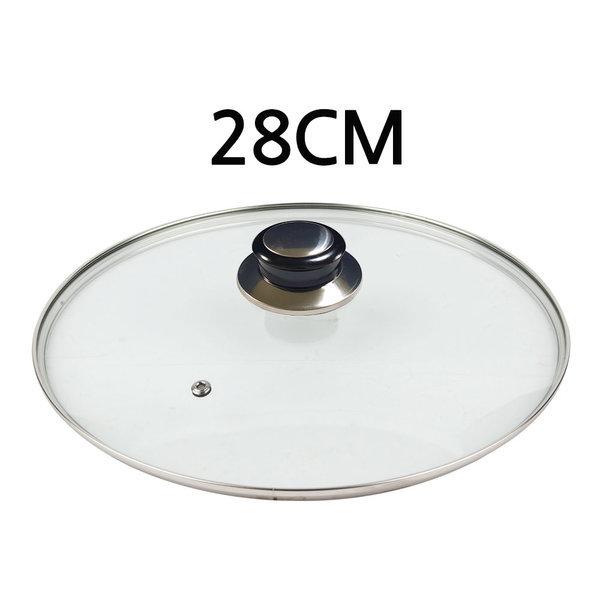 유리뚜껑 28cm 프라이팬덮개 냄비뚜껑 후라이팬뚜껑 상품이미지