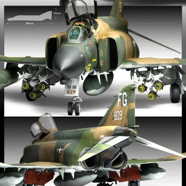 1/48 F-4C Vietnam War 베트남전 전투기 비행기 모형 상품이미지