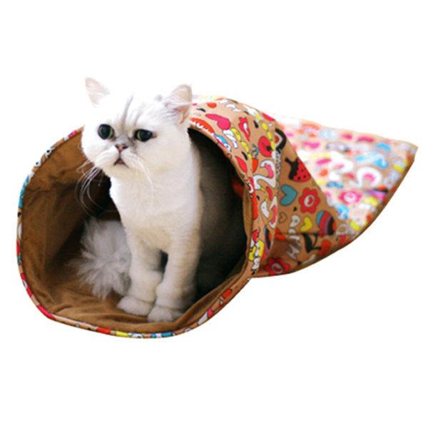 쏘아베 슬립하우스/고양이하우스/고양이놀이터/고양이장난감/캣닢함유/부드러운원단/따뜻한하우스/바우샵 상품이미지