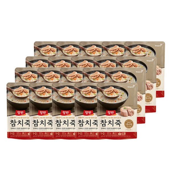 (현대Hmall) 동원  양반죽 참치죽 420g X 20개 /파우치죽/즉석죽 상품이미지