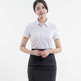 여성 반팔 일자핏 셔츠 빅사이즈 블라우스 체인지