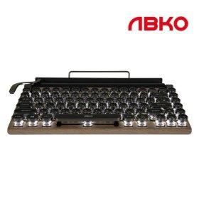 앱코 TW1867 레트로 블루투스 기계식 키보드 적축
