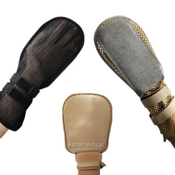 이화 망사 억지장갑(검정) 안전장갑 손목억제대 상품이미지