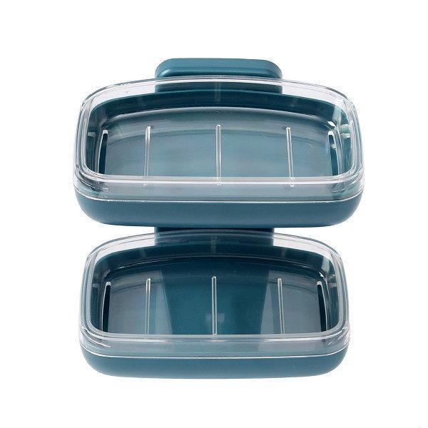 굿즈트리 접착식 2단 비누받침대(블루그린) 상품이미지