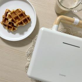 2구 샌드위치 크로플 와플 메이커 화이트(DA-SAN02)