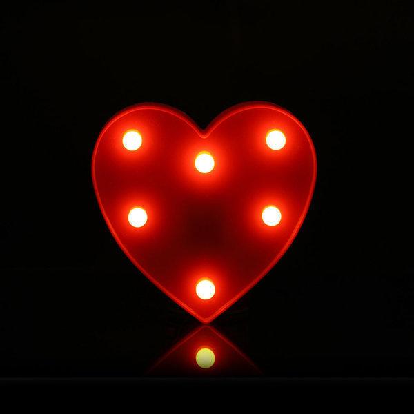 LED특수문자하트 무드등 조명 기념일 이벤트 인테리어 상품이미지