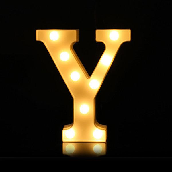 LED 알파벳 Y 무드등 조명 기념일 이벤트 인테리어 상품이미지