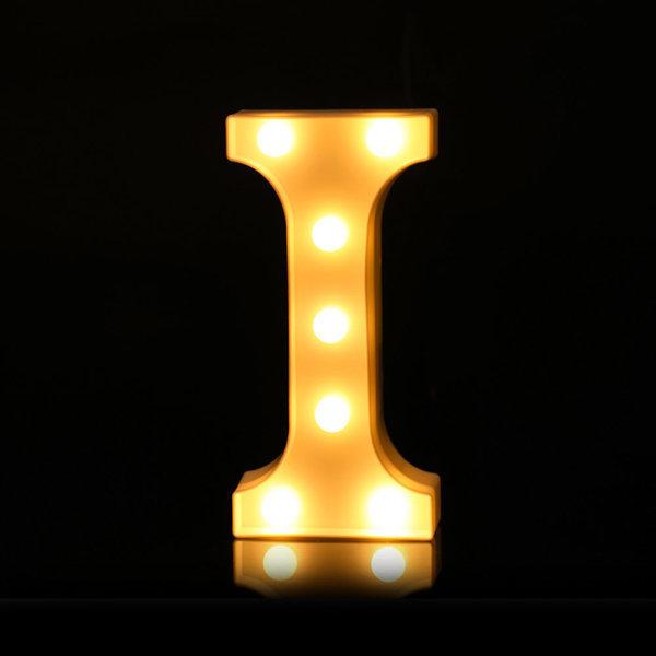 LED 알파벳 I 무드등 조명 기념일 이벤트 인테리어 상품이미지